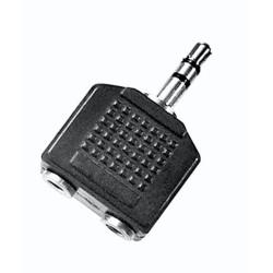 Adaptador Jack 3,5 stéreo - 2 Jack hembra 3,5 stéreo