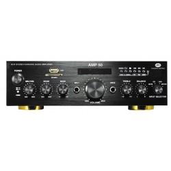 Amplificador HI-FI estéreo con reproductor MP3 y radio FM Acustic Control AMP-50