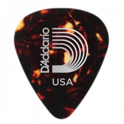 Púa Shell-Color Celluloid MD D'Addario (70mm)