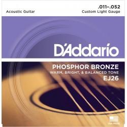 Juego de cuerdas para Guitarra acústica D'Addario EJ26 - Phosphor Bronze
