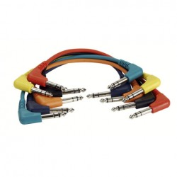 Cable Patch stereo 6 colores 60 cm