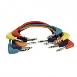 Cable Patch stereo 6 colores 30 cm