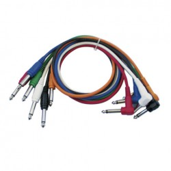 Cable Patch mono 6 colores 30 cm
