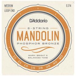 D'ADDARIO EJ74 MANDOLINA MEDIUM 11-40