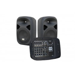 AMS COMPACT 200 Set sistema portátil amplificado (2 x 150W) + reprductor MP3 + 1 micrófono.