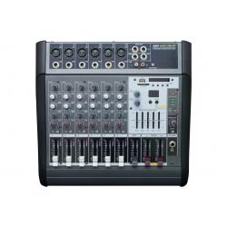 AMS AMP 6300 USB BT Mezclador autoamplficado 2 x 150w. 6 canales mono.