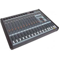 AMS AMX 1624 USB Mezclador de 8/10 canales mono + 4/2 estéreo. USB/SD.