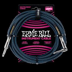 ERNIE BALL CABLE INSTR. TRENZADO JACK-JACK (7,62m)