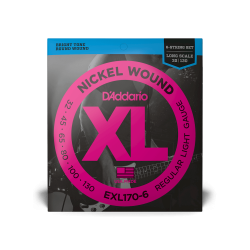 D'ADDARIO BASS EXL170-6 REGULAR LIGHT