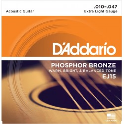 Juegos de cuerdas Guitarra Acústica D'Addario EJ15 - Phosphor Bronze Extra Light