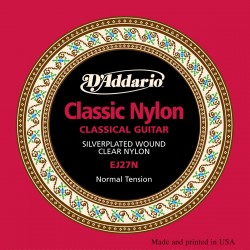 Cuerdas Guitarra clasica D'Addario EJ27N Student Normal Tension