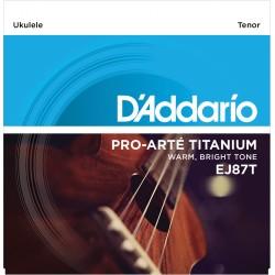 Juego de cuerdas para ukelele D'Addario EJ87T Titanium Ukulele Tenor