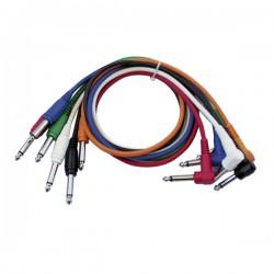 Cable patch mono 6 colores 60 cm