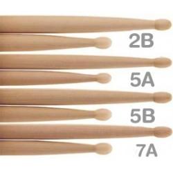 Baquetas bateria hickory 5b punta nylon Logan